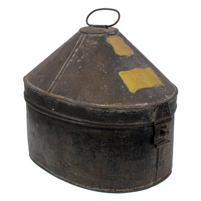 British Army Edwardian Hat Case For Sale - Image 11 of 11