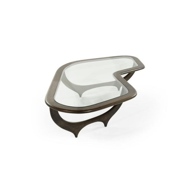 Mid 20th Century Large Scale Sculptural Walnut Coffee Table, Italy, 1950s For Sale - Image 5 of 13