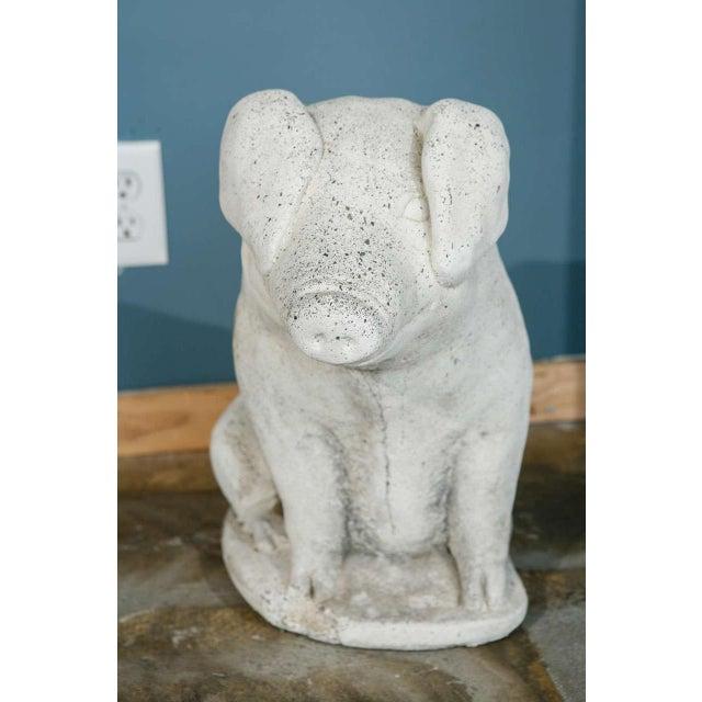 Cast Stone Pig Garden Ornament - Image 5 of 8