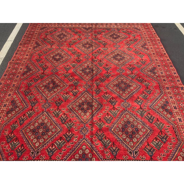 "Vintage Persian Yalameh Area Rug - 7'8"" x 9'7"" - Image 3 of 11"