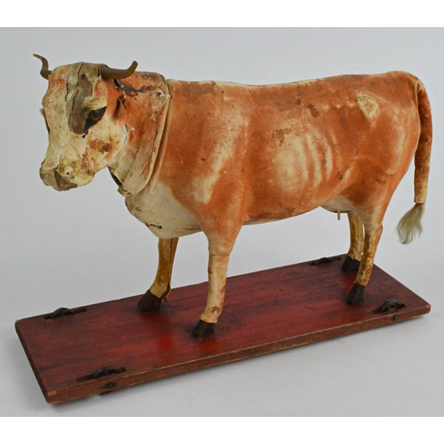 Vintage Leather Cow Pull Toy - Image 2 of 11
