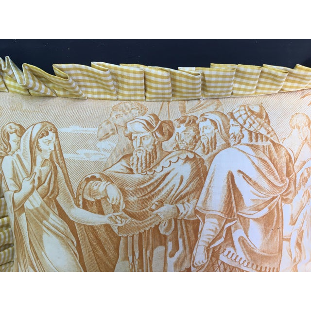 """French Country Antique Toile """"The Chastity of Joseph"""" Pillow For Sale - Image 3 of 6"""