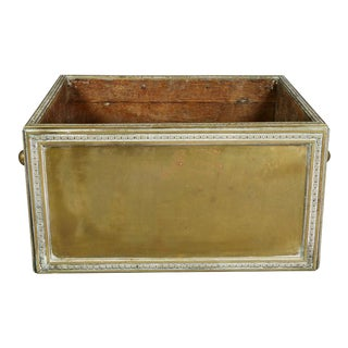 Large Victorian Brass Wood Bin or Planter