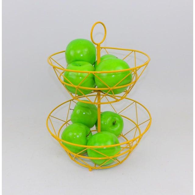Yellow Metal Fruit Basket - Image 5 of 6
