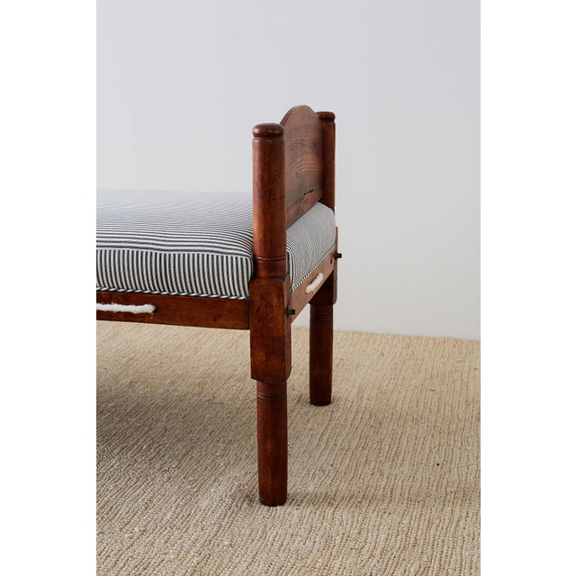Late 18th Century 18th Century New England Cherry Daybed or Rope Bed For Sale - Image 5 of 13