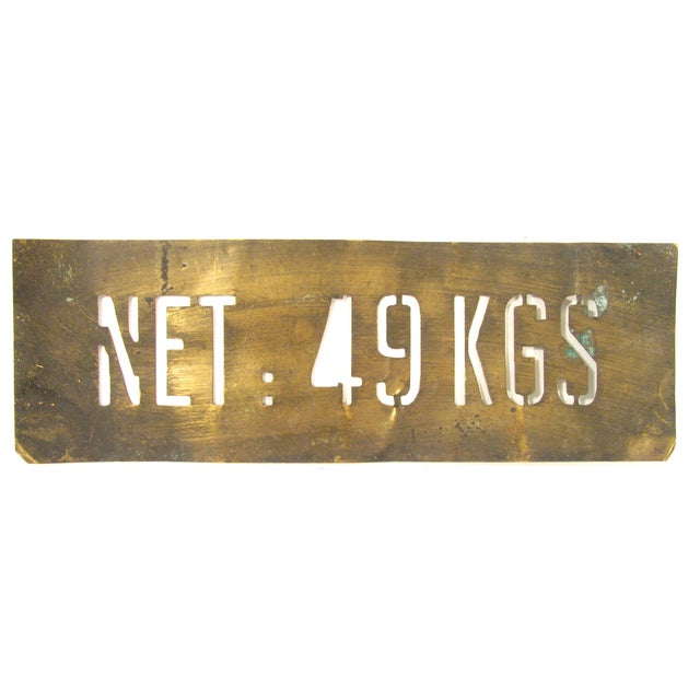 Fun & funky vintage French patinated brass stencil found at an antique market in the south of France. Initially used for...