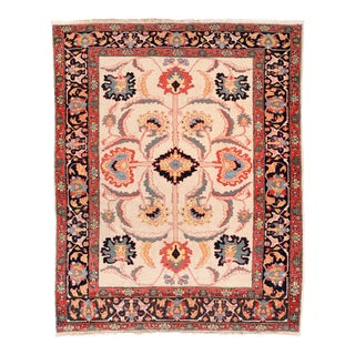 Vintage Red Farahan Persian Area Rug For Sale