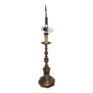 Antique Candlestick Lamp For Sale