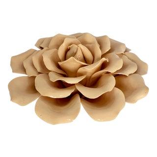 Large Ceramic Rose Figure