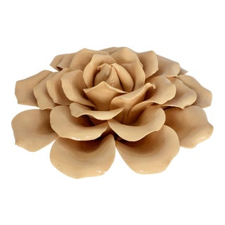 Large Ceramic Rose for Table or Wall