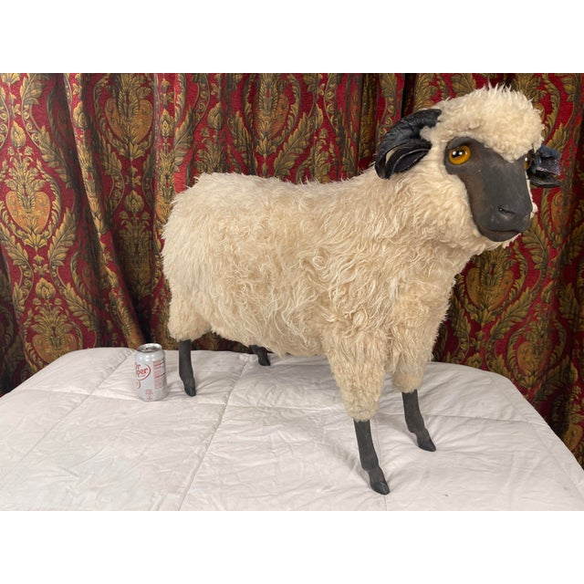 Life Size Vintage Sheep Ottoman in the Style of Lalanne For Sale In Palm Springs - Image 6 of 11