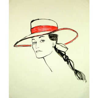 Chedelly, Woman in Red Hat For Sale