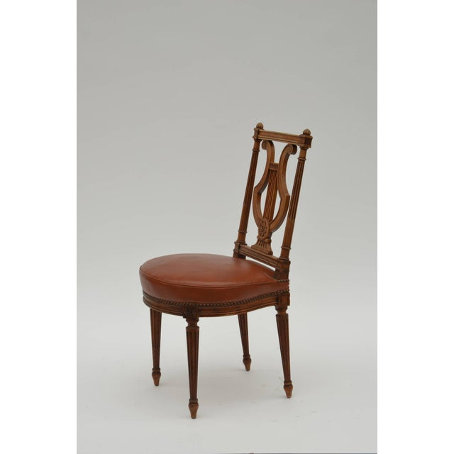 Elegant Neoclassical Side Chair by Maison Jansen, Paris. Great as a desk or vanity chair. Or even in a large bathroom with...
