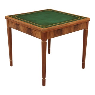 Green Leather Flip Top Game Table