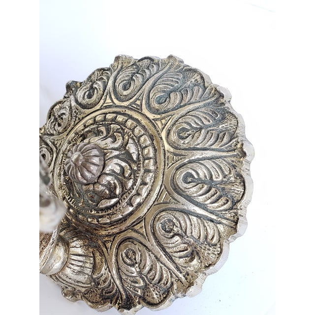 Vintage Spanish Brass and Glass Wall Sconces For Sale - Image 9 of 11