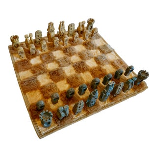 Oversized Ceramic Chess Set For Sale