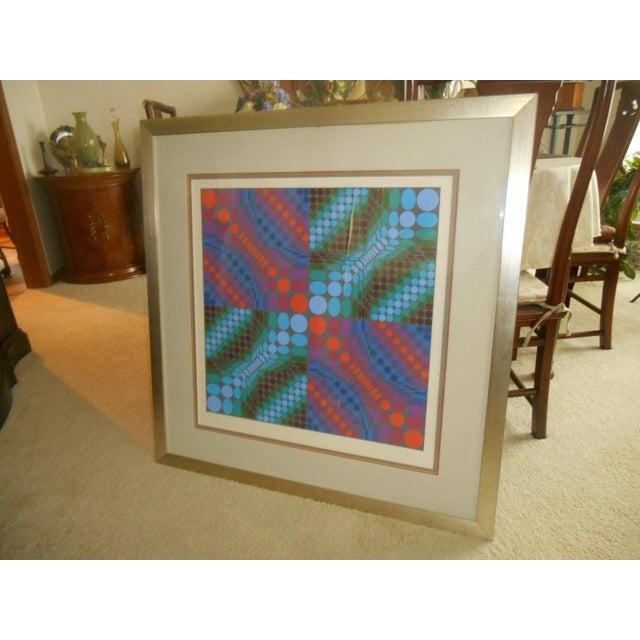 Victor Vasarely Op Art Silkscreen - Image 3 of 8