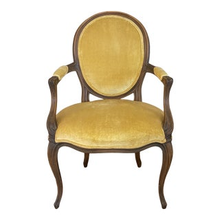 Vintage Baker French-Style Armchair For Sale