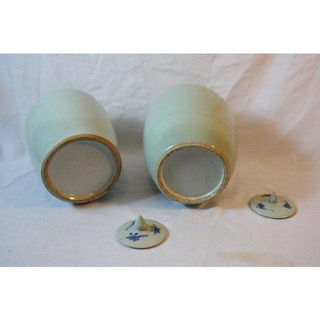 Antique Porcelain Covered Jar - Pair - Image 4 of 5