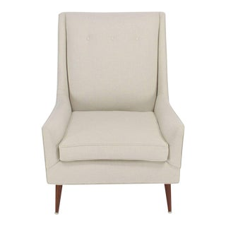 New Upholstery High Dowel Legs McCobb Lounge Chair For Sale