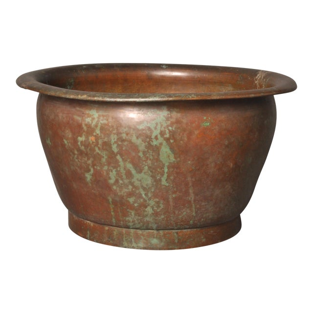 Hammered Copper Pot, American- 1920s For Sale