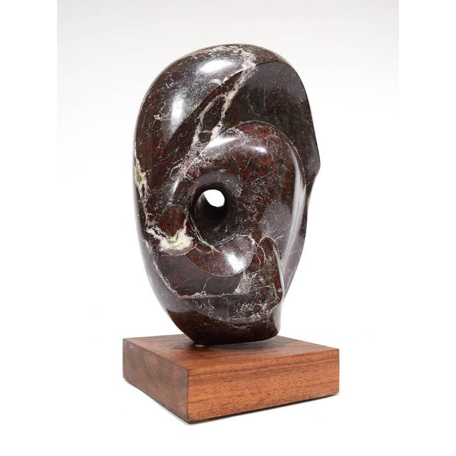 Abstract Marble Sculpture in the Manner of Barbara Hepworth - Image 6 of 11