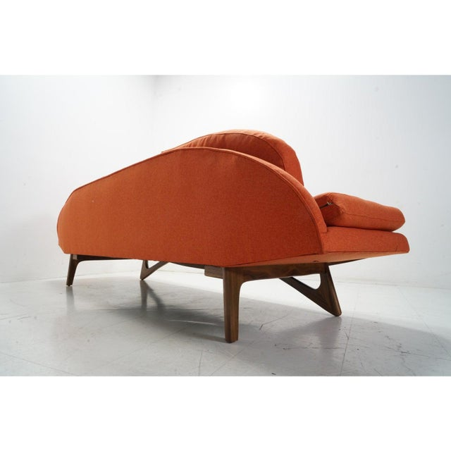 Mid-Century Modern Attributed Adrian Pearsall Gondola Sofa For Sale - Image 3 of 8