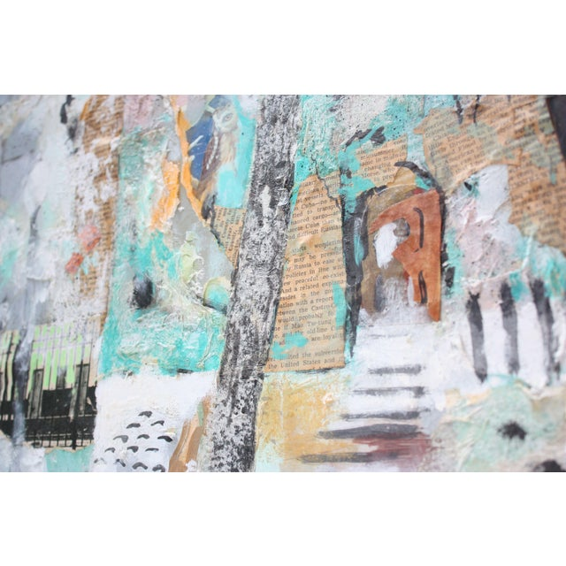1960s Ralph De Burgos Mixed-Media Abstract Collage For Sale - Image 5 of 12