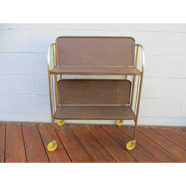 Folding Metal Bar Cart - Image 8 of 10