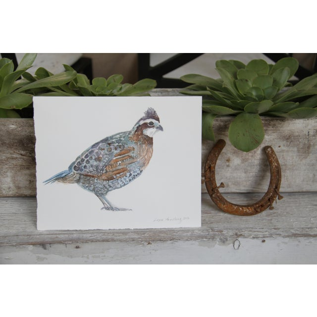 Northern Bobwhite Watercolor Painting - Image 2 of 2