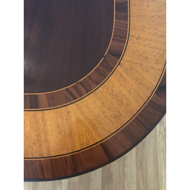 Wood Georgian Style Dining Table With Banded Border For Sale - Image 7 of 11