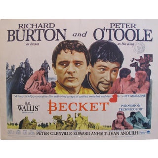 "1964 Original American Movie Poster - ""Becket"" With Richard Burton & Peter O'Toole For Sale"