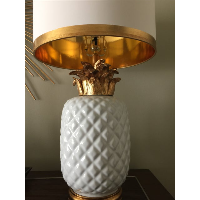 Vintage Inspired Pineapple Lamps- Pair - Image 5 of 7