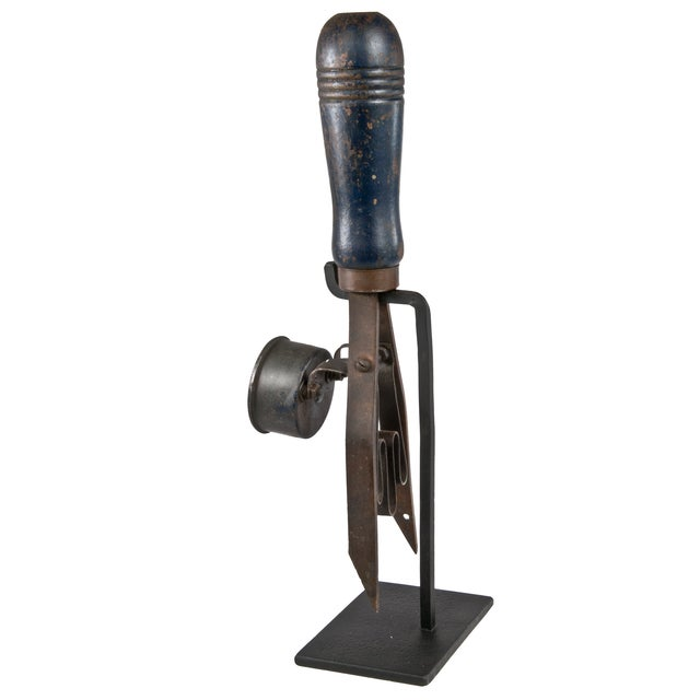 Antique Perfect Battery Tester on Iron Stand For Sale - Image 4 of 4