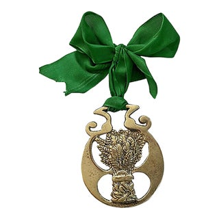 19th-C. English Horse Brass Ornament For Sale
