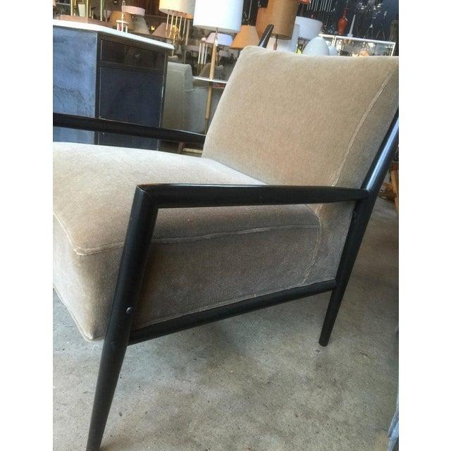 Mid-Century Modern 1950s Vintage Paul McCobb 3082-E Planner Group Ebonized Lounge Chair For Sale - Image 3 of 12