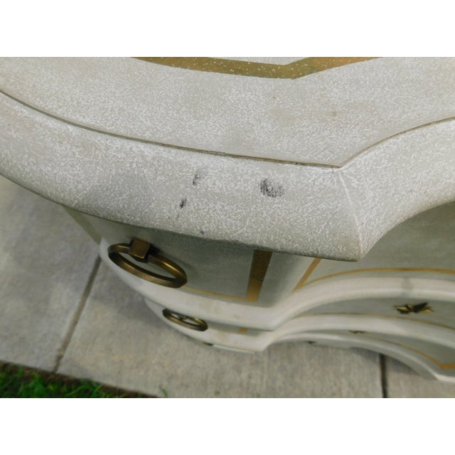 Gold Modern History Furniture Venetian Commode For Sale - Image 8 of 11