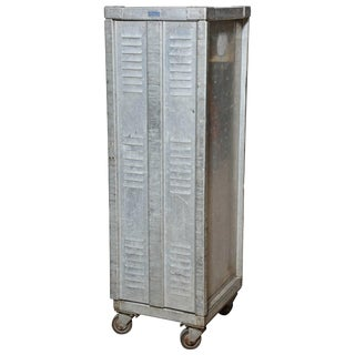 1950s Vintage Bucksco Enterprises Rolling Aluminium Bakers Cabinet For Sale