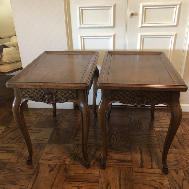 Brown 1960s French Style End Tables - a Pair For Sale - Image 8 of 11