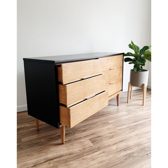 Wood Mid Century Modern Harmony House Black + Natural Wood Dresser For Sale - Image 7 of 11