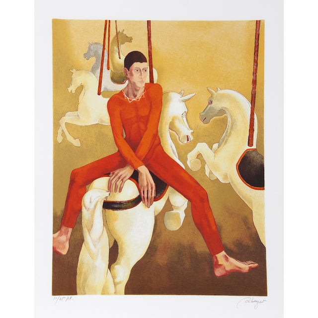 "Daniel Riberzani, ""Carousel,"" Lithograph - Image 1 of 2"