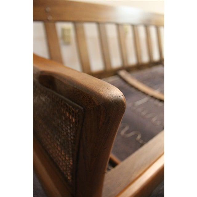 Vintage Mid-Century Walnut Sofa Frame - Image 7 of 11