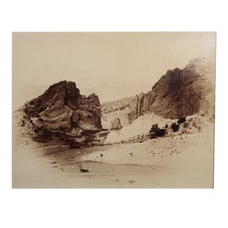 Early 20th Century Albumen Print of Pikes Peak After William Henry Jackson For Sale