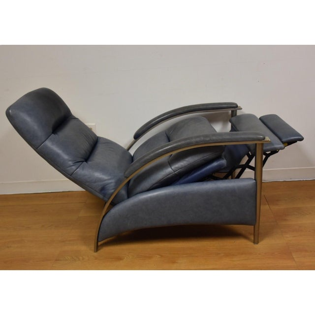 Ethan Allen Modern Leather Recliner - Image 3 of 10