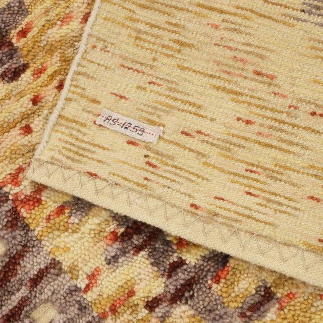 2010s Rug & Kilim's Scandinavian-Inspired Geometric Golden-Yellow Gray Wool Rug For Sale - Image 5 of 6