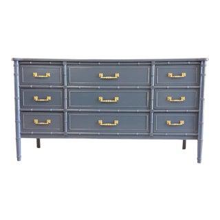 Henry Link Hali Bai 9 Drawer Faux Bamboo Dresser For Sale