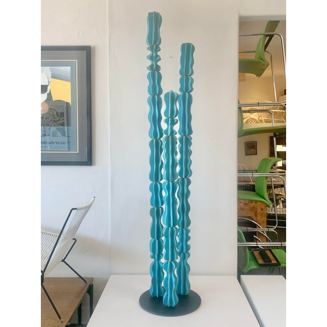 2020s Turquoise Monstrosus Ceramic Sculpture For Sale - Image 5 of 5