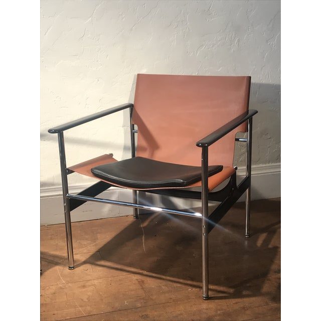 Black Charles Pollock for Knoll 657 Sling Lounge Chairs- a Pair For Sale - Image 8 of 12