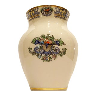 """Vintage Decorative Porcelain Vase by Lenox With """"Autumn"""" Pattern For Sale"""