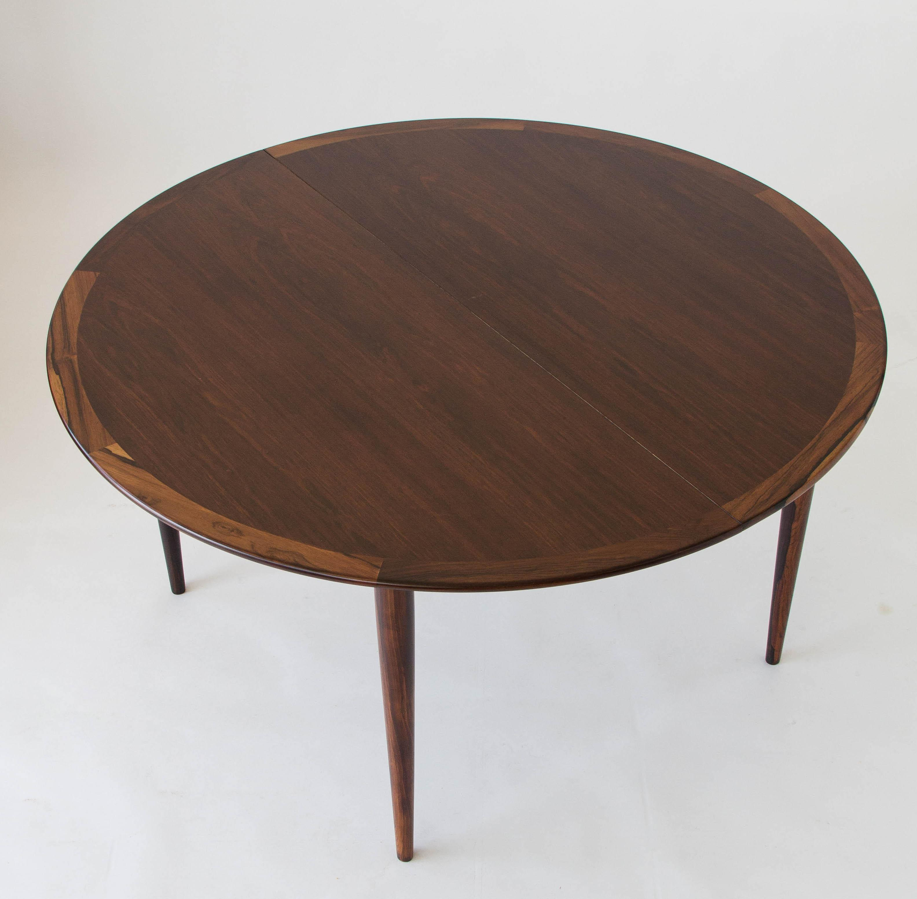 Rosewood Round Dining Table By Grete Jalk For P. Jeppesen   Image 3 Of 7